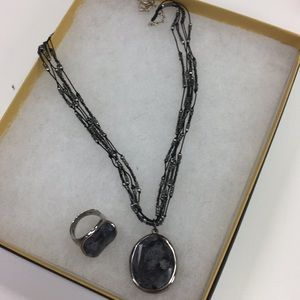 Silpada Necklace and Ring Set